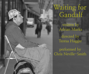 Publicity image: Kevin sitting outside Fenwick's