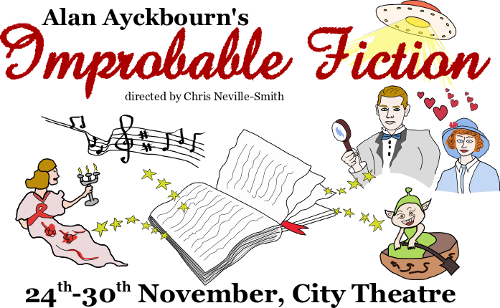 Improbable Fiction logo from my production